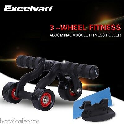 Abs Roue Abdominale Fitness Gym Rouleau Abdominaux Appareil Sport Musculation FR