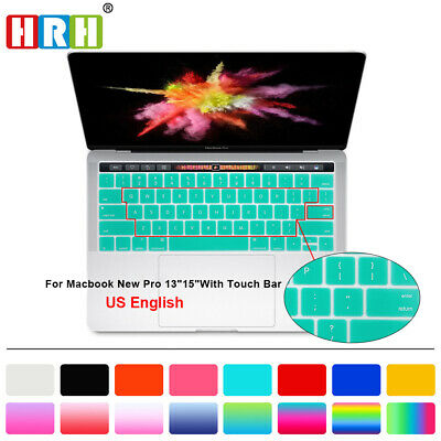 US Keyboard Cover Silicone Skin Protector For Macbook Pro 13 15 With Touch Bar