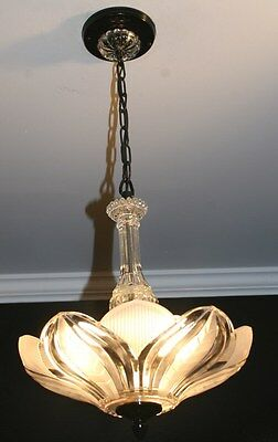Antique frosted glass custom art deco light fixture ceiling chandelier sunflower