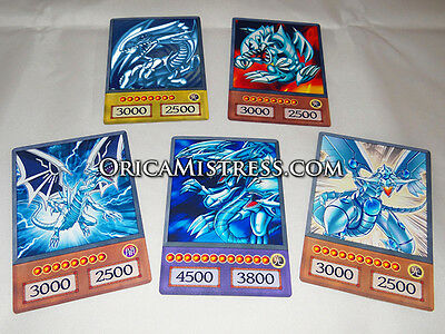Yu-Gi-Oh! Custom Anime Orica - BLUE EYES COLLECTION - 5 Card Set