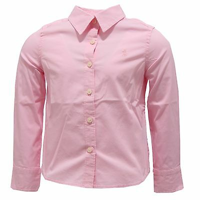 4809S camicia bimba RALPH LAUREN rosa without label shirt long sleeve kid