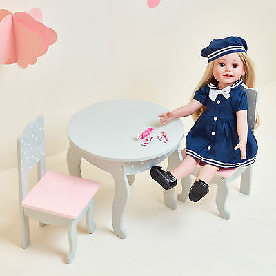 Olivia's Little World Baby Doll Furniture Polka Dots Table & 2 Chairs Set