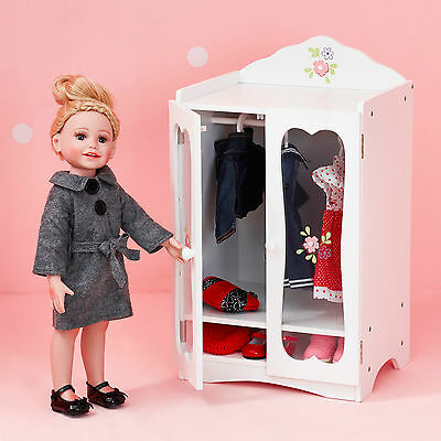 Olivia's Little World Baby Doll Furniture Classic Closet with Hangers