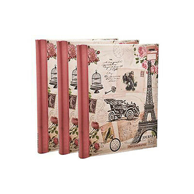 3 Pink Self Adhesive Large Photo Albums Totaling 60 Sheets 120 Sides- Travel