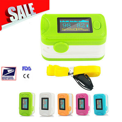 Safe OLED Blood Oxygen Finger Pulse Oximeter Oxymeter SPO2 PR Monitor FDA+