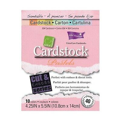 COLORCORE Cardstock CORE ESSENTIALS - PASTELS 40 Sheets 4.25 X 5.5