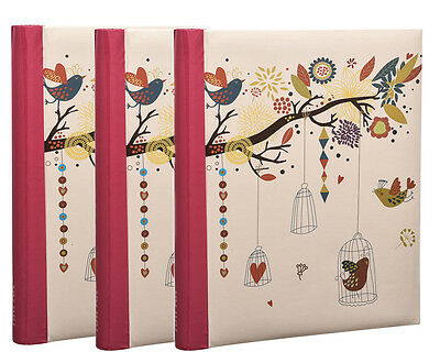 Self Adhesive Photo Album Vintage Art Deco Style Large Spiral Bound Pack of 3