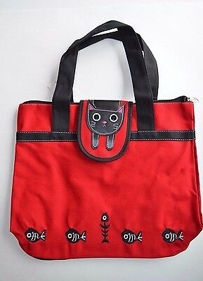New Canvas Kitty Cat Tote/Travel Bag