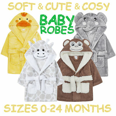 Unisex Baby Boys Girls Dressing Robe Novelty Animal Themed Gown Soft Nightwear
