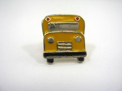 Vintage Collectible Pin: Yellow School Bus Front