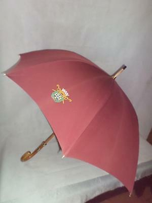*Vintage Burgundy Umbrella - Le Veritable Cherbourg- Made in France - GP collar*