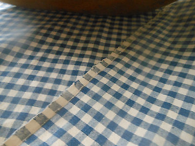 Antique Blue Loomed Homespun Cotton Fabric ~ PA farmhouse