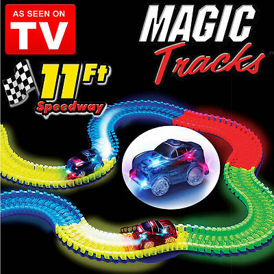 2Cars Magic Tracks The Amazing Racetrack that Can Bend Flex Glow As Seen on TV