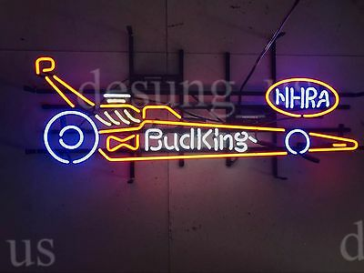 "New Bud King NHRA Racing Car Neon Sign 32""x20"" Ship From USA"