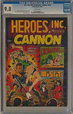 CGC 9.8 Heroes, Inc. Presents Cannon - 1969 Wally Wood Comic