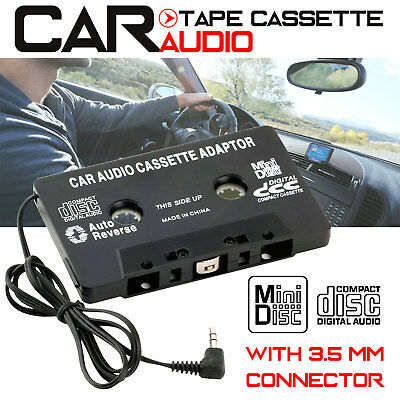 CAR AUDIO TAPE CASSETTE ADAPTER  IPHONE IPOD MP3 CD RADIO NANO 3.5mm JACK AUX