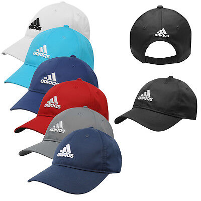 d0d2748eebe4b Adidas Mens Sports Peak Cap Baseball Hat 3 Stripes Logo Adjustable Running  Golf