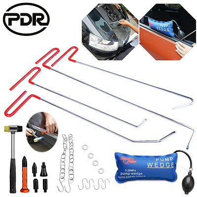 Paintless Dent Removal Repair PDR Tools Spring Steel Push Rods Set Pump Hail Tap