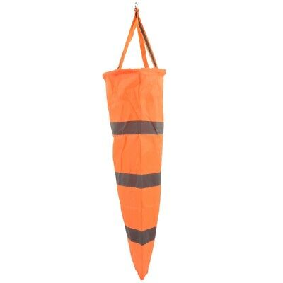 80cm Aviation Windsock Rip-stop Wind Measurement Sock Bag + Reflective Belt T7V8