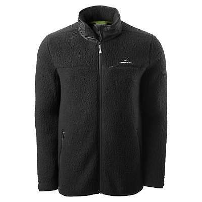 Kathmandu Baffin Island Mens Full Zip Hooded Warm Outdoor Fleece Jacket Black