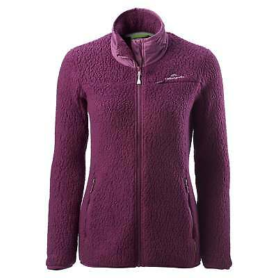 Kathmandu Baffin Island Womens Full Zip Hooded Warm Outdoor Fleece Jacket Purple