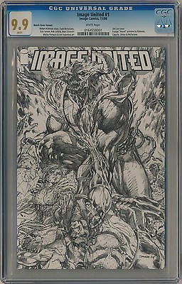 CGC 9.9 Image United #1 1:100 Jim Lee Sketch Variant - Omega Spawn (not 9.8)