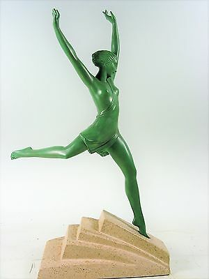 """French Art Deco Sculpture """"Olympia"""" by Fayral (Pierre Le Faguays) c1930"""