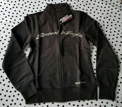 rare Harley Davidson Screaming Eagle Jacket Zip Up Sweater Bling Racing