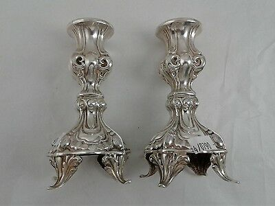 """5"""" high Pair of Candlesticks (2 total) - Sterling Silver 925 -  Weight 184 grams"""