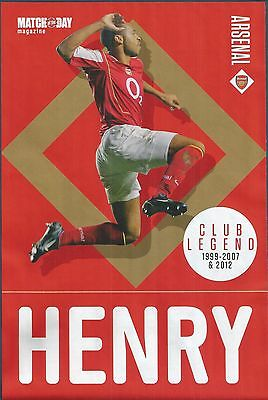 Motd-Poster 2016/17-Arsenal & France-Thierry Henry-Club Legend-1999-2007 & 2012