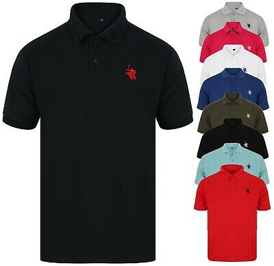 Polo Shirt Mens Tee Top Short Sleeve Designer T Shirt Golf Plain Horse New Sport