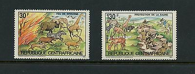Central Africa 1984  #631-2  wildlife protection animals fauna 2v.  MNH  J957