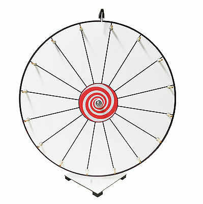 Prize Wheel 24 inch Customizable White Face Classic Wooden Peg Design