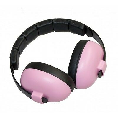 BABY Childs Banz Ear Defenders Earmuffs Protection Pink 3-months+ Girls