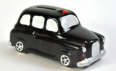 Quirky Black and White Taxi Hackney Cab Money Box