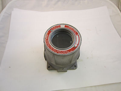 """Crouse Hinds Emh521 Explosion Proof Instrument Meter Housing  W/ 3/4"""" Openings"""