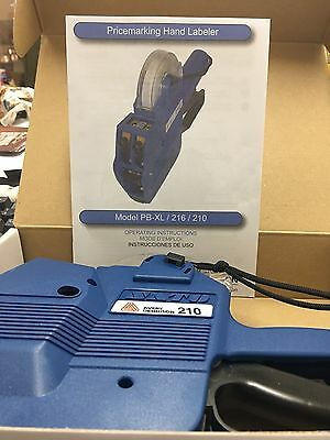 Avery Dennison 210 Price Label Gun Hand Labeler Two Lines Blue H06220-1 NEW