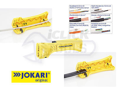 Jokari 30900 Allrounder Wire Stripper Cable Stripper 4-15mm Round & Flat Cables