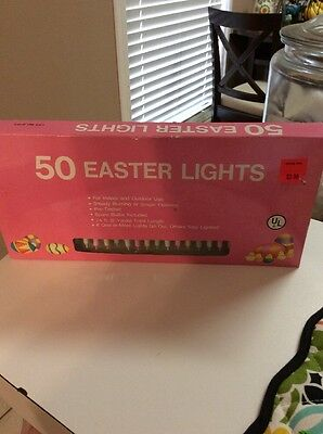 Easter Lights Multi Color Pastel Set Of 50 Indoor & Outdoor Use