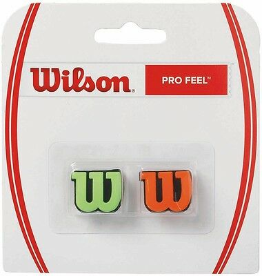 Wilson Pro Feel Shock Absorber, Tennis Vibration Dampener 2 Pack Orange / Green