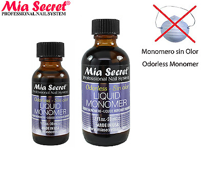 Mia Secret ODORLESS Liquid Monomer 1oz/2oz Professional Nail System MADE IN USA