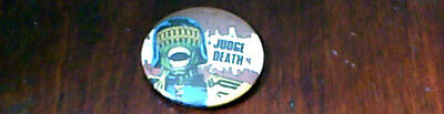 Judge Death 2000Ad Judge Dredd Comic Uk Only Pin Button Badge Very Rare Vintage