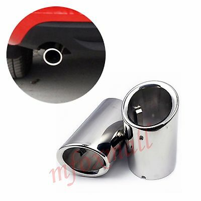 2pcs Rear Tail Pipe Muffler Exhaust Silencer Cover For Volvo XC60 S60 2011-2013