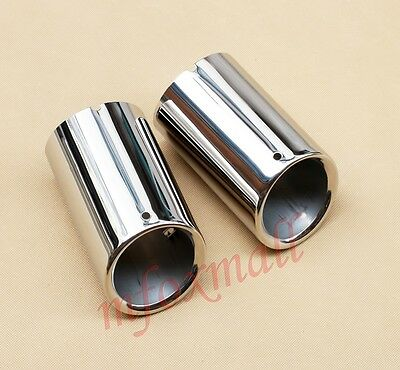 Chrome Rear Exhaust Tail Pipe Tip Muffler For VW Tiguan 2009-2014 Accessories
