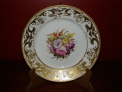 Antique Duesbury Derby Pair Floral & Gold Decorated Hand Painted Bowl - 1806-25