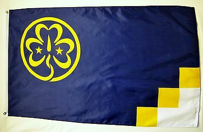 Girl Scouts Of America Flag 3' X 5' Indoor Outdoor Dark Blue Banner
