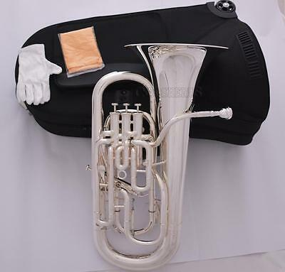Professional completely silver plated Compensating Euphonium With Trigger Key