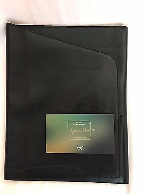 Mont Blanc George Bernard Shaw Notepad Black Leather Limited Writers Edition