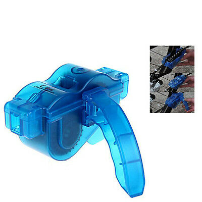 Blue Portable Bicycle Chain Cleaner Bike Clean Machine Brushs Scrubber Wash Tool
