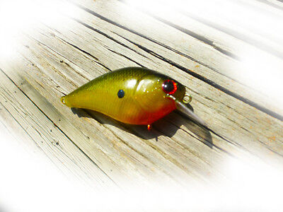 2 CUSTOM PAINTED LUCKYCRAFT  SQUAREBILL CRANKBAITS FISHING LURES   RED//GOLD SHAD